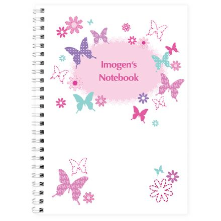 Personalised  A5 Notebook - Butterfly
